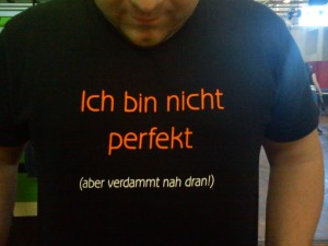 Icgh bin nicht perfekt