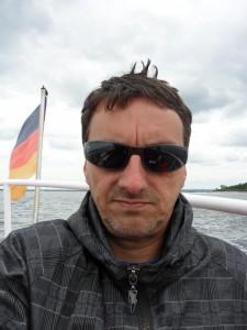 Radfahrer auf der Ostsee
