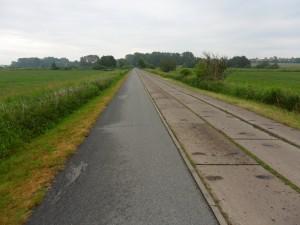 Betonplattenweg bei Barth