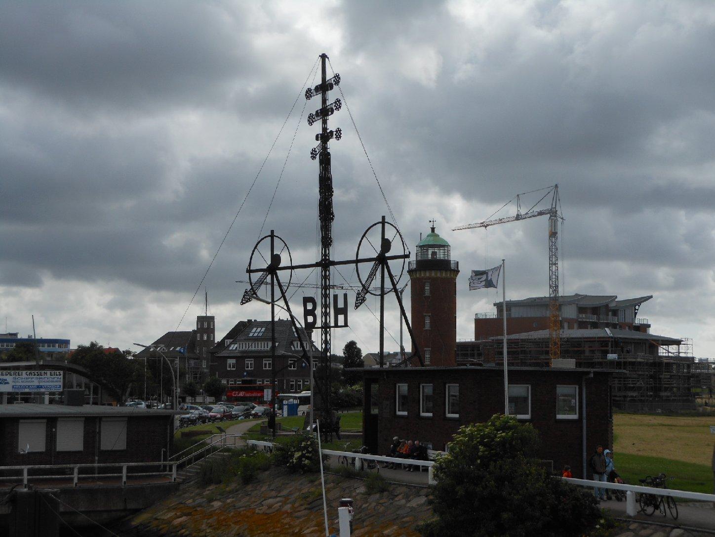 Cuxhaven Windsemaphor und Leuchtturm