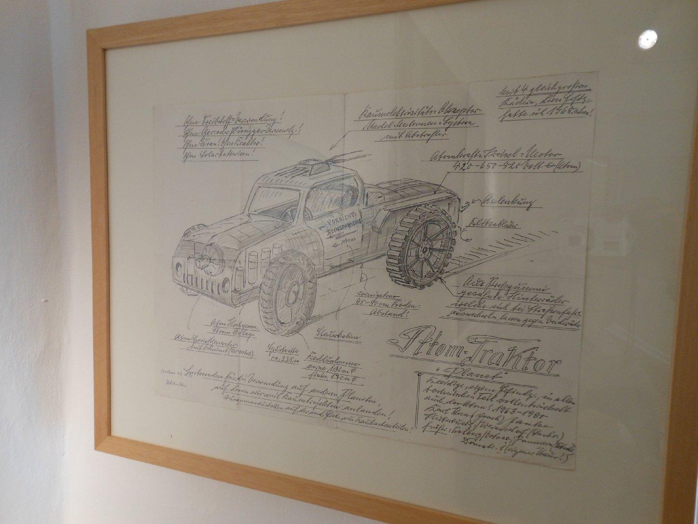 Atom-Traktor, Zeichnung von Karl Hans Janke