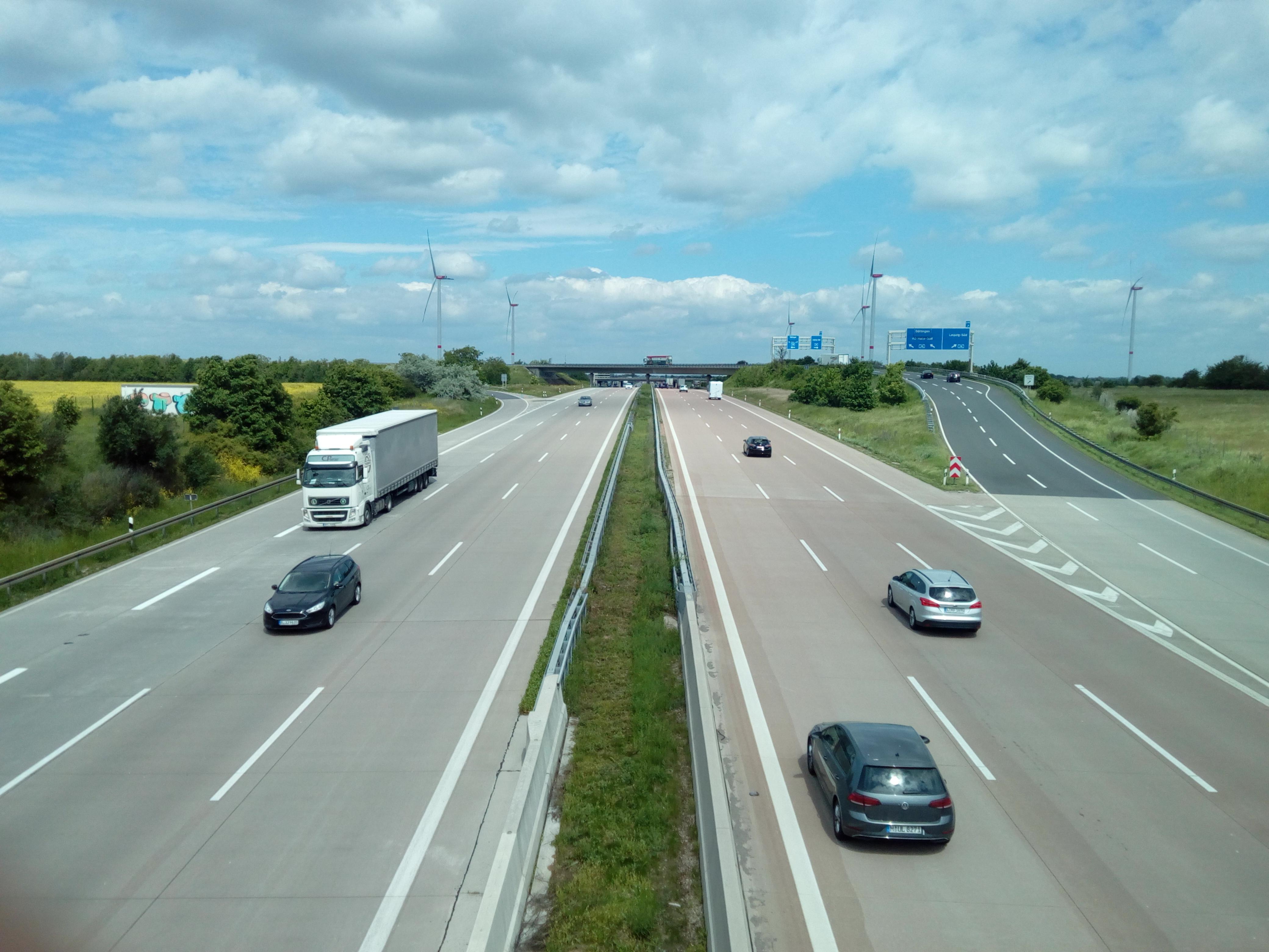 Autobahn A9 bei Rippach
